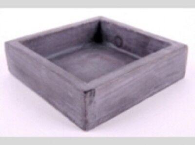 1 Tavoletta In Legno Forma Quadrata D: 16 Cm Grigio-mostra Il Titolo Originale Essere Distribuiti In Tutto Il Mondo