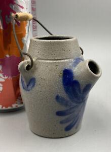 "Rowe Pottery Miniature Salt Glazed Jug - 2 7/8"" Tall - 1993"