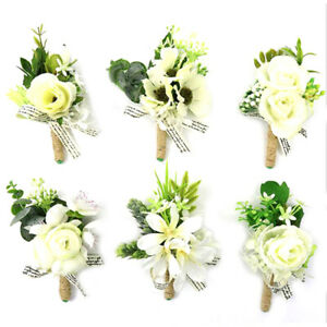 1PC Wedding Corsage Groom Boutonniere Sunflower Artificial wrist flower 4.33in