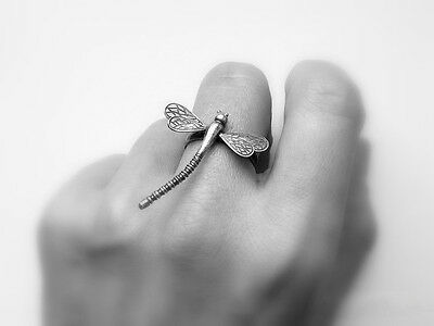 HAND MADE RING ** DRAGONFLY ** for LADIES STERLING SILVER 925 ARTISAN JEWELLERY