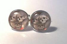 Cráneo gótico Pila Vidrio semicirculares de gemelos