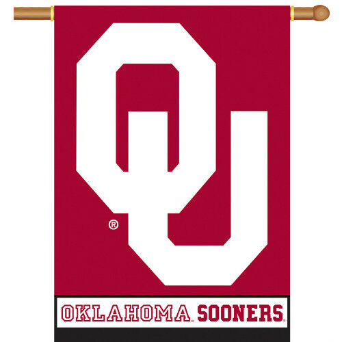 Bsi Products Inc Oklahoma Sooners 2-Sided Banner with Pole Sleeve Banner