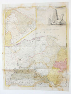 Gussefeld-Carte-Mer-Baltique-Prusse-Orientale-Pomeranie-1775-Gravure-sur