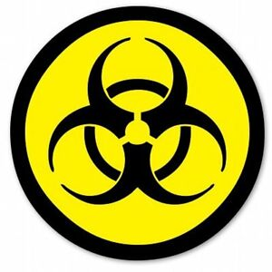 Biohazard Radioactive Danger Circle Car Vinyl Sticker