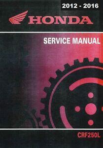 2012 2013 2014 2015 2016 honda crf250l crf 250l service manual on cd rh ebay com honda crf250l owners manual 2017 crf250l service manual