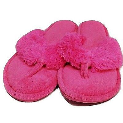BRAND NEW DEARFOAMS Pink Plush Slippers~Large 9-10