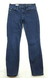 Gap-1969-Womens-Size-27-in-True-Skinny-Ankle-Jeans-Dark-Wash-Blue-Mid-Rise