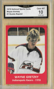 Details About Wayne Gretzky 1978 Indianapolis Racers Rookie Card 1 Graded Gma 10 Gem Mt Rp