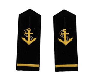 1,2,3,4 Bars Epaulets Gold Propeller Epaulettes Marine Uniform Shoulder Insignia