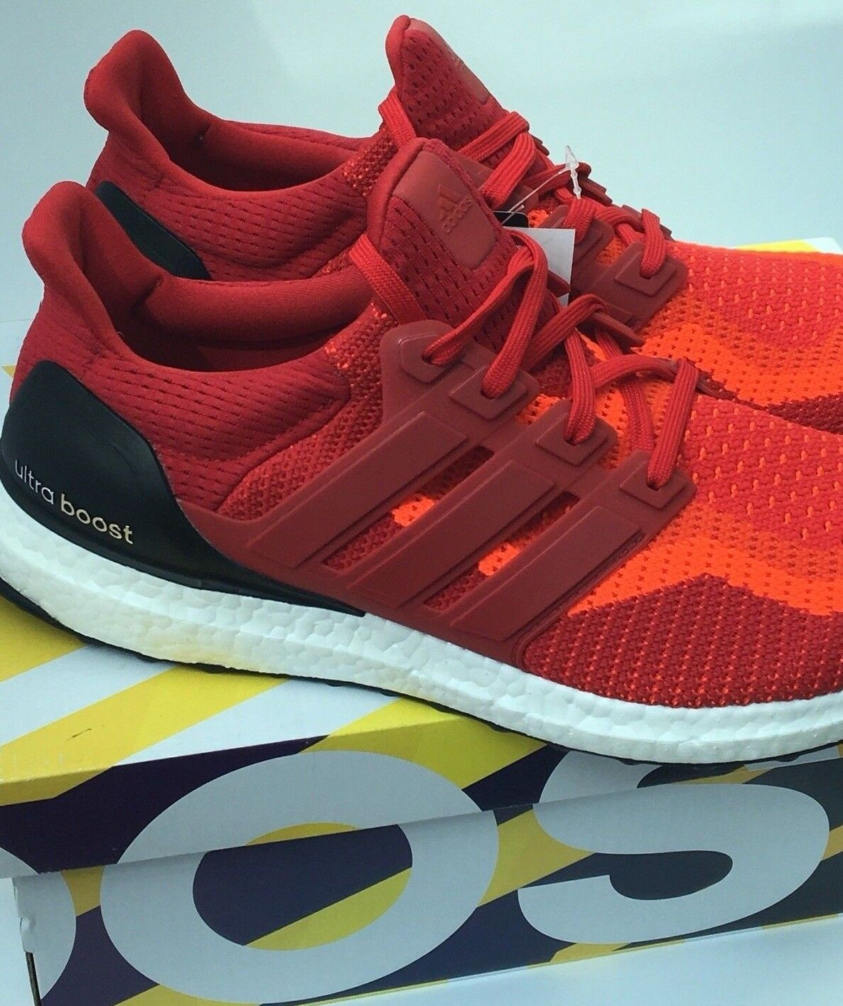 pretty nice de091 0412d ... netherlands adidas ultra boost m primeknit 2.0 running shoes aq4006  primeknit m red gradient brand new