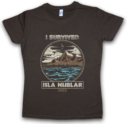 I SURVIVED ISLA NUBLAR II DAMEN T-SHIRT Jurassic Fun Dinosaur T Rex Park
