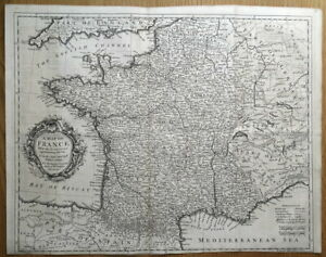 FRANCE-RW-Seale-Original-antique-map-1745
