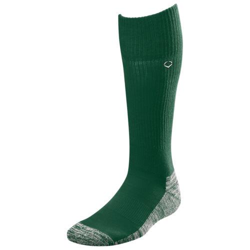Evoshield Knee-High Moisture Wicking Baseball//Softball Game Socks Dark Green M