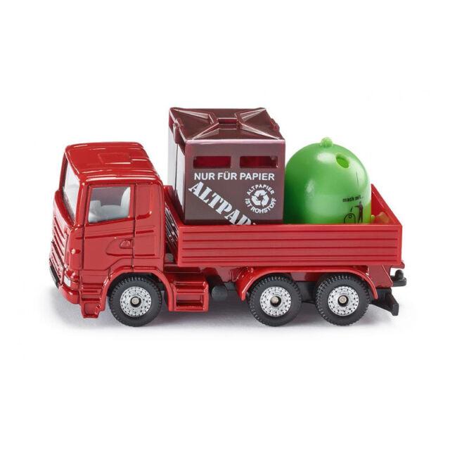 Siku 0828 SCANIA recycling-lkw MODELLINO AUTO ROSSA (blister) NUOVO! °