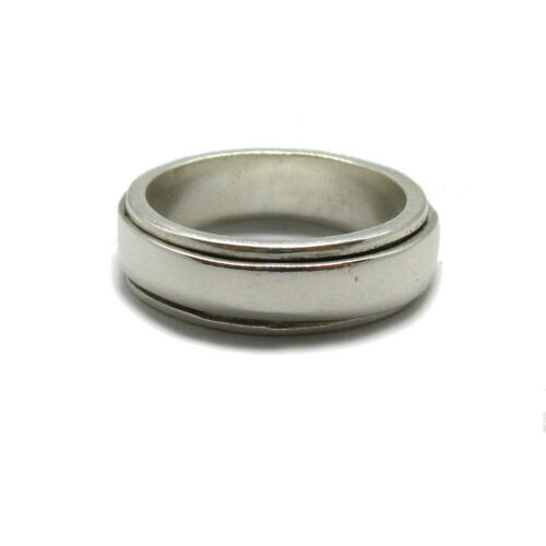 Genuine Sterling Silver Ring Spinner Band Solide Hallmarked 925 paix