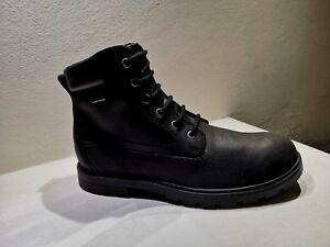 Geox Boots Amphibiox Black Leather New