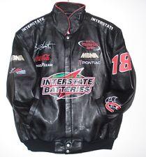 Size  XL NASCAR Interstate Batteries Lambskin  Leather Pontiac  JACKET NEW XL