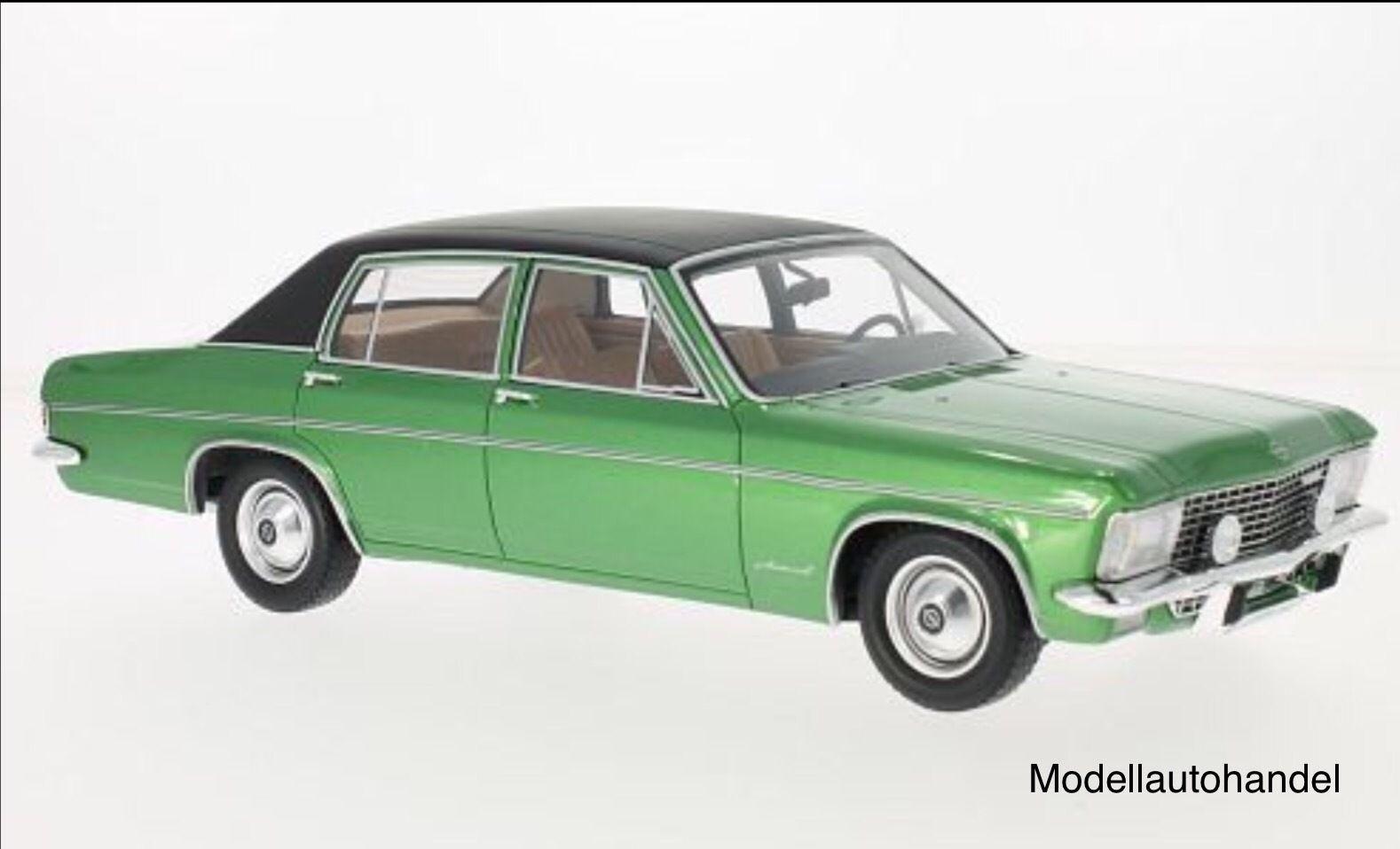 Opel Admiral B 1971 grün met.   Dach schwarz 1 18 BOS       NEW