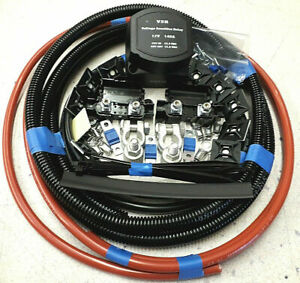 2 Metre Professional Split Charge Relay Kit 16mm Cable 140 Amp 12 Volt Relay Ebay
