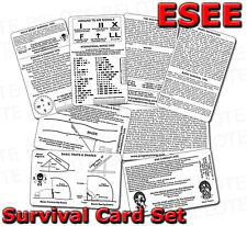 ESEE Izula Gear Survival Card ESSURVCARD Set Printed on 30 mil plastic credit c