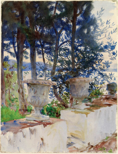 Fine Art Print Singer Sargent Watercolor Reproductions Corfu The Terrace