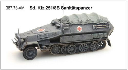 Fertigmodell Artitec 387.73-Am 1//87 // H0 Sdkfz 251//8B Sanitätspanzer Neu