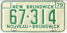 New Brunswick 1978 License Plate - 67 314