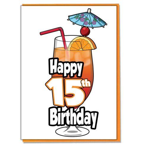 Ami-soeur Mocktail 15th Carte d/'anniversaire-ado-Fille-fils