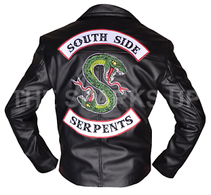 fantastic savings los angeles discount price Details about New Mens Riverdale Southside Serpents Jughead Jones  Embroidery Leather Jacket