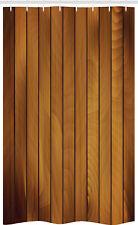 Braun Schmaler Duschvorhang Hölzerne Planke Aged Holz