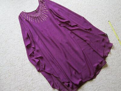 Apprensivo Liz Jordan Taglia 14 Vestito Viola-festa Matrimonio-mostra Il Titolo Originale