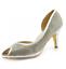miniatura 9 - Para mujeres Zapatos Tacón Gatito Peep Toe Sandalias Diamante Fiesta Damas Boda Tribunal UK