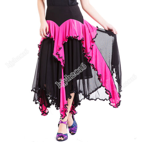 Women Ballroom Dance Costume Skirt Modern Standard Tango Waltz Performance Wear