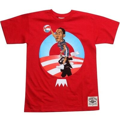 Activewear Undrcrwn President Barack Obama Usa All Star Team Men's Red T Shirt 10433r At Any Cost Activewear Tops