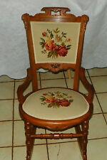 Walnut Carved Eastlake Sewing Rocker / Rocking Chair  (BH-R191)