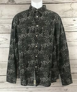 NWT MBX Denim Jean Shirt XL Vintage Slim Fit Diamond Pattern Long Sleeve Button