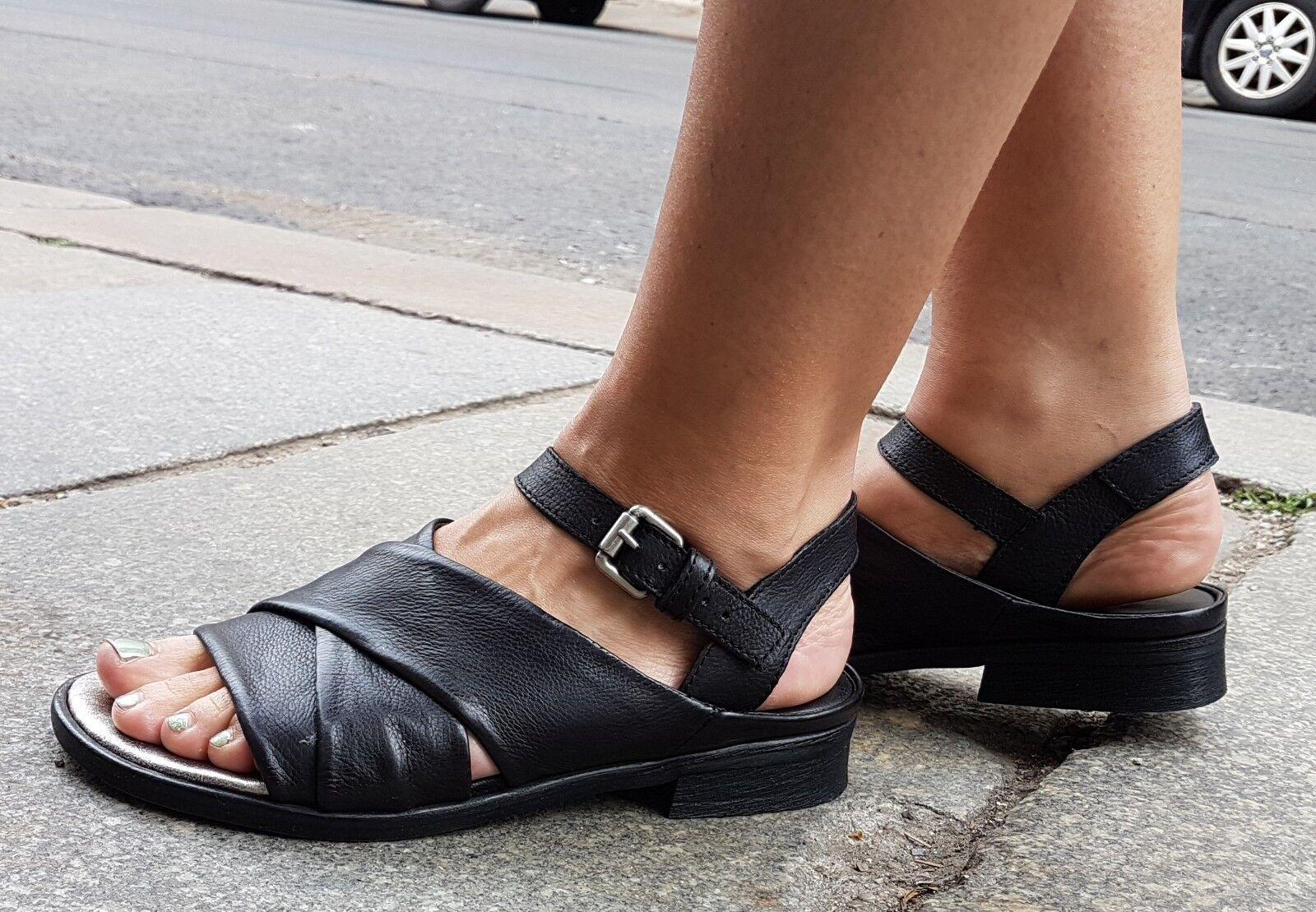Mjus sandalia art.779001 negro Black Echt Leder nuevo orginal Made in Italy