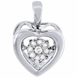 """925 Sterling Silver Cross Charme Collier Pendentif Avec Diamant Coupe et 18/"""" Chaîne"""
