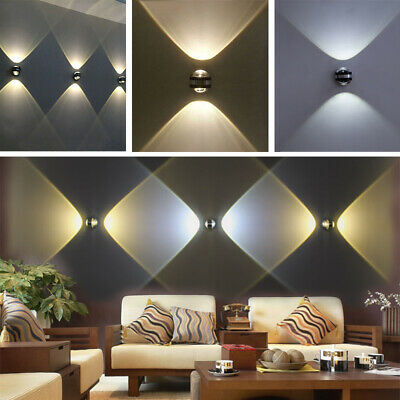 Up Down 6w Led Wall Sconces Lamp Modern Indoor Hotel Decor Light Ebay