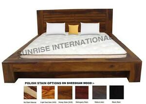 Storage Bed - Contemporary Wooden Indian King Size Double Bed with 2 Drawers !