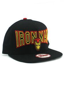 New Era Iron Man 9fifty A-Frame Snapback Hat Adjustable Marvel ... 8c565b6c666