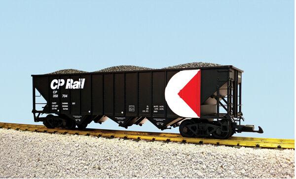 USA Trains G Escala 14027 70 tonelada 3 Bay Tolva de Cochebón Cp Rail-Negro