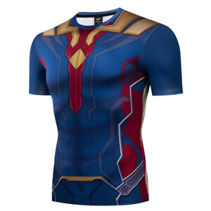 Marvel-Avengers-4-Superhero-Cosplay-Compression-Tights-Quick-Drying-T-shirt-Tops
