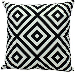 Gut gemocht Outdoor Kissen schwarz weiß gemustert 45x45cm Deko Muster Modern VM17