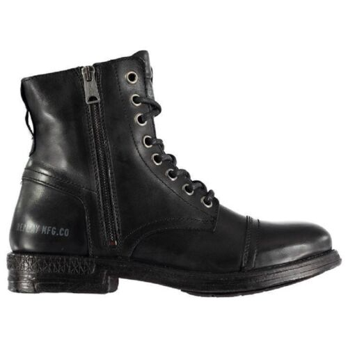 REPLAY MENS PHIM BLACK LEATHER BOOTS