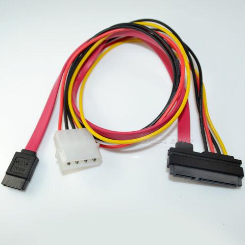"""16/"""" 7 pin+15-pin Serial ATA SATA Data Power Combo Cable"""