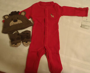 c578d805a7b Image is loading Carters-Boys-3-Piece-Newborn-Christmas-Reindeer-Layette-
