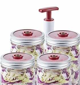Details About 4 Pack Of Fermentation Lids With Extractor Pump For Wide Mouth Mason Jar