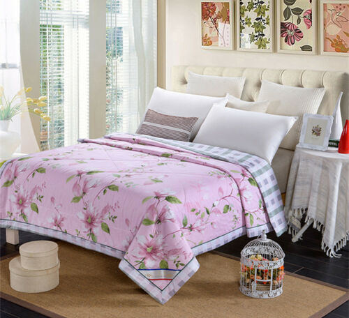 100% Egyptian cotton Filled Floral Luxury All Seasons Duvet Quilt Bed Size
