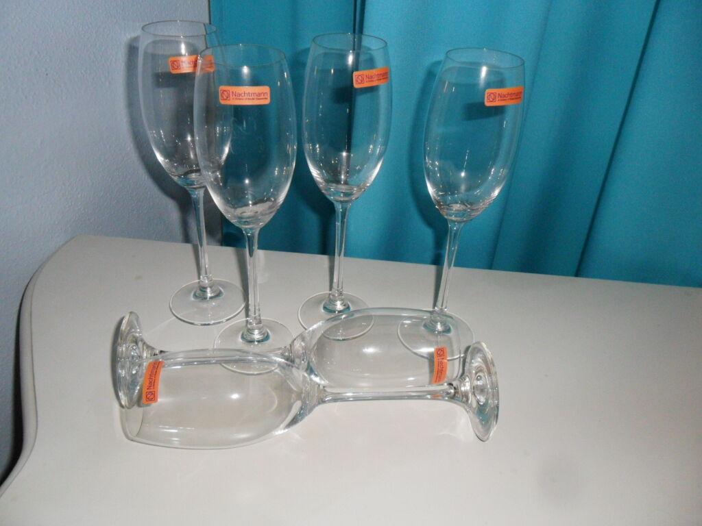 Nachtmann Nachtmann Nachtmann Kristall Sektkelch Champagne Flute 6 stück. Neu gemarkt. 193a7b